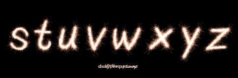 Sparkler font Stock Photography