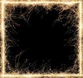 Sparkler frame. On white  background Stock Image