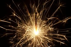 Sparkler growing Royalty Free Stock Photography