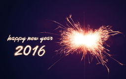 2016 Sparkler Royalty Free Stock Photography