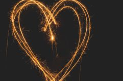 Sparkler Heart royalty free stock photography