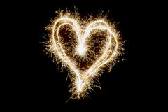 Sparkler heart, party Royalty Free Stock Image