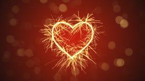 Sparkler heart shape. Computer generated illustration Royalty Free Stock Photo