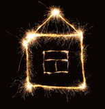 Sparkler house Stock Image