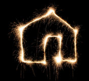Sparkler house Stock Images