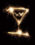 sparkler kieliszkach, Zdjęcie Royalty Free