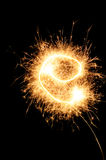 Sparkler letter of English alphabet Stock Photo