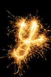 Sparkler letter of English alphabet Stock Photography