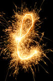 Sparkler letter of English alphabet Stock Photos