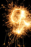 Sparkler letter of English alphabet Stock Images
