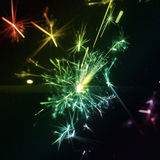 Sparkler multi coloured Royalty Free Stock Photography
