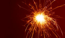 Sparkler. New Year celebrity Royalty Free Stock Images