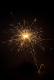 Sparkler no fundo preto Imagens de Stock Royalty Free