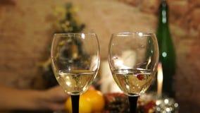 sparkler Pranzo di natale Decorazioni del nuovo anno 2018 Champagne archivi video