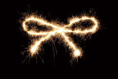 Sparkler ribbon Royalty Free Stock Photography