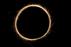 Sparkler ring Stock Photo