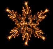 Sparkler snowflake Royalty Free Stock Images
