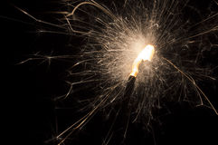 Sparkler sparks. Sparks coming from a sparkler Royalty Free Stock Photography