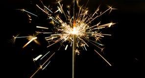Sparkler sparks light Stock Images