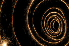 Sparkler spiral Royalty Free Stock Image