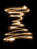 sparkler spiral Στοκ Εικόνες
