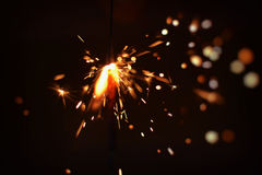 Sparkler for Stock projects. Fireworks Sparkler taken on new years night Stock Image