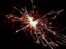Sparkler for Stock projects. Fireworks Sparkler taken on new years night Royalty Free Stock Photo