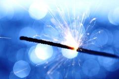 Sparkler sur le fond de bokeh Image libre de droits