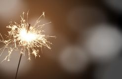 Sparkler - sylwester zdjęcia royalty free