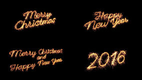 Sparkler text merry christmas new year greeting Royalty Free Stock Photo
