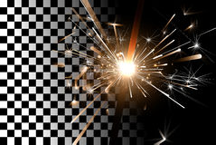 Sparkler on a transparent background Stock Photos