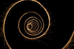 Sparkler tunnel Stock Images