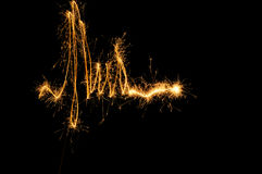 Sparkler Waveform Stock Photo