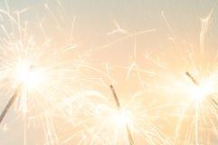 Sparkler on the white background Royalty Free Stock Image