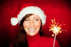 Sparkler woman Stock Photos