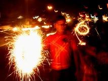 sparklers нерезкости Стоковая Фотография