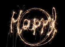 sparklers предпосылок счастливые Стоковые Фото