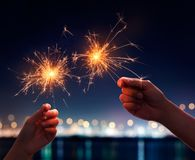 Free Sparklers Royalty Free Stock Photography - 102524637