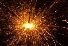Sparklers. For the new year Royalty Free Stock Image