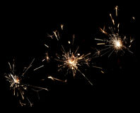 Sparklers. Isolated on black background Stock Photography