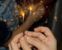 Sparklers Stock Images