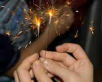 sparklers Стоковые Изображения