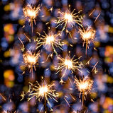 Sparklers background Royalty Free Stock Image
