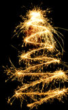 Sparklers chistmas tree Stock Photo