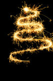 Sparklers chistmas tree royalty free stock photo