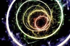 Sparklers coloridos Fotografia de Stock Royalty Free