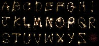 Sparklers di alfabeto Immagini Stock Libere da Diritti