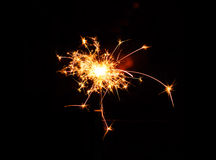 Sparklers and firecrackers Royalty Free Stock Photo