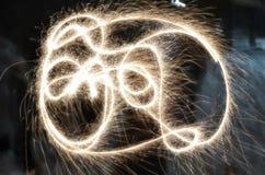 Sparklers Freezelight Στοκ εικόνα με δικαίωμα ελεύθερης χρήσης