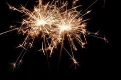 sparklers Luces de la Navidad y del Año Nuevo Fotos de archivo